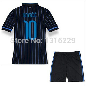 14 15 hot best quality International Soccer jerseys KOVACIC VIDIC Home football shirt GUARIN Soccer uniforms set+logos(China (Mainland))