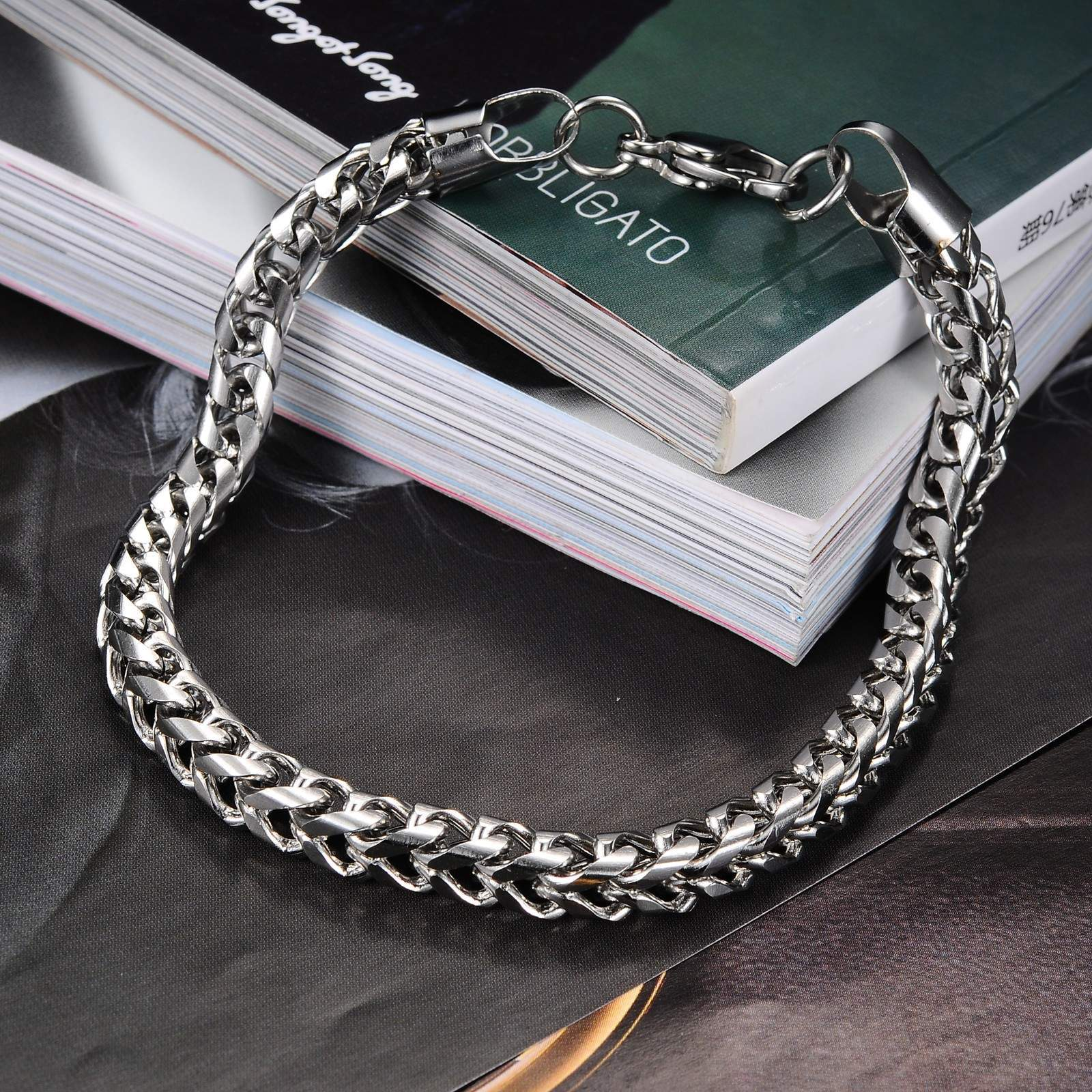 Hot Sale Summer Style Hand Chain Man Stainless Steel Snake Bracelet Bangles Men Accessories Jewelry Gift