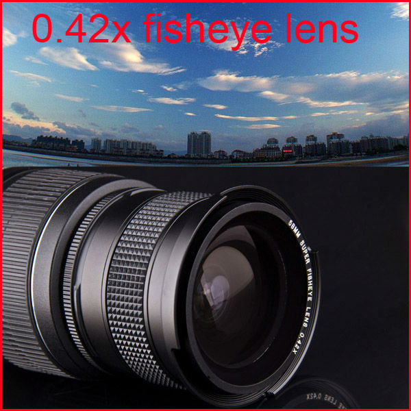 55mm camera 0.42X Super Wide Angle Fisheye Lens Macro Sony A55 A57 A65 A290 A330 A580 18-55 - Guangzhou Kingda International Co.,Ltd store