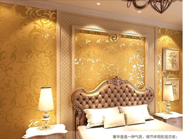 Wholesale Genuine Victorian Glitter Wallpaper 3d Silver Background Wall Wallpaper Roll Home