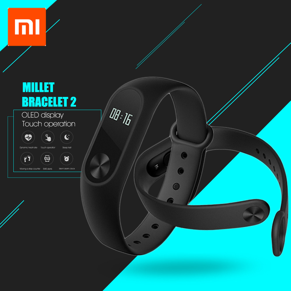 Xiaomi Mi Band 2 Smart Wristband Bracelet Heart Rate Monitor Fitness Tracker Android Bluetooth Smartband Android IOS Phone