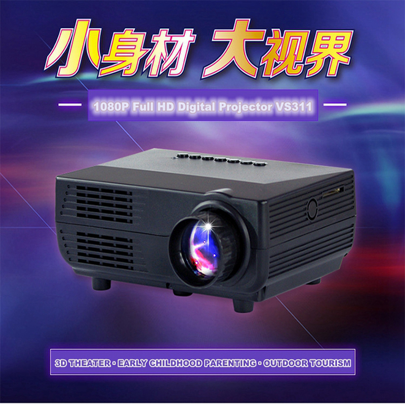 Brand projector 1000 lumens led projector home theater usb for Highest lumen pocket projector