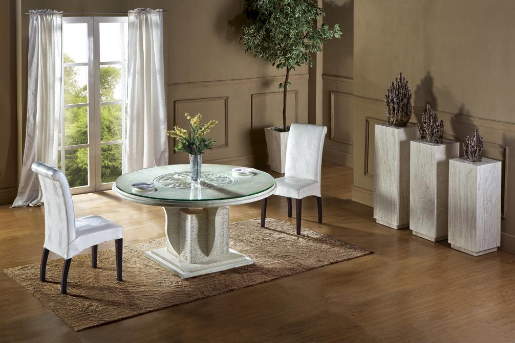 2015 New Design Round Table Travertine Dining Table Set Health Natural Marble Dining Furniture Marble Table NB-109(China (Mainland))