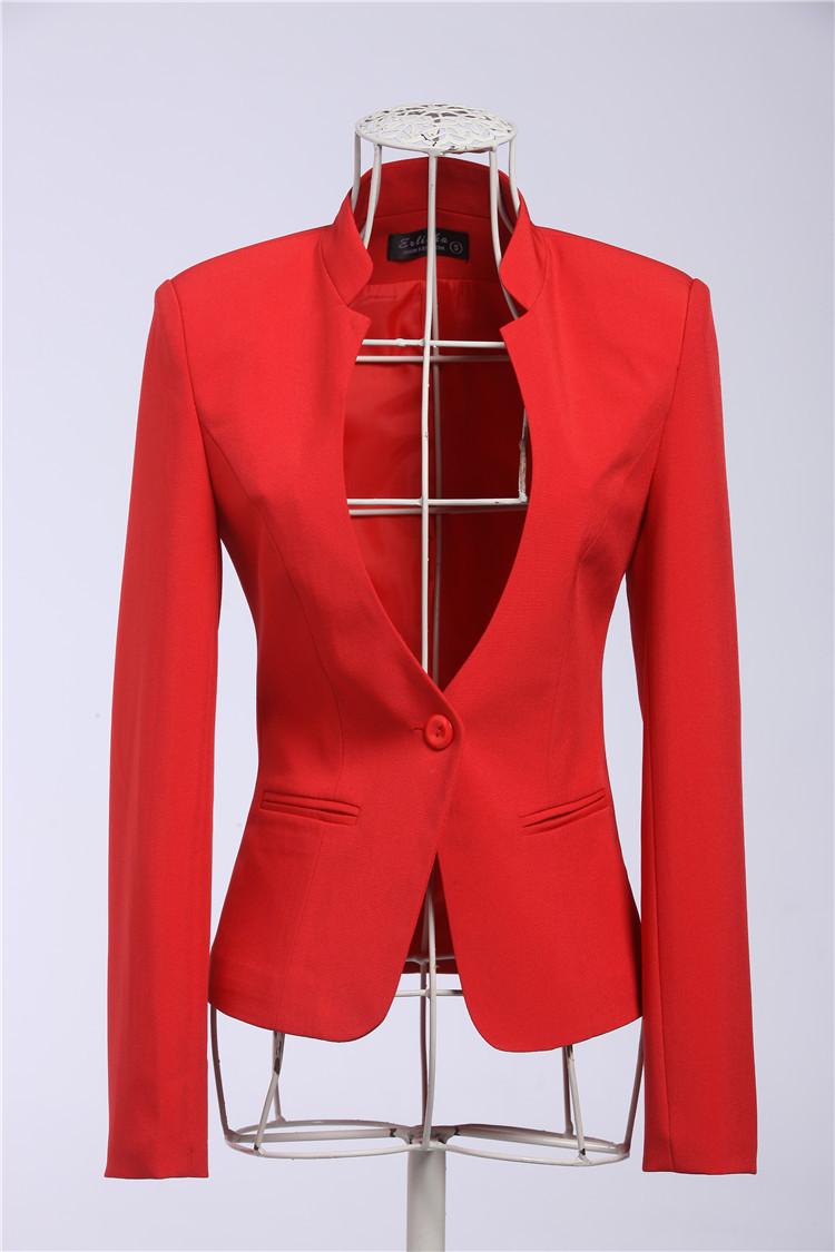 Novelty Red Slim Fashion Business Women Blazers Jacket ...