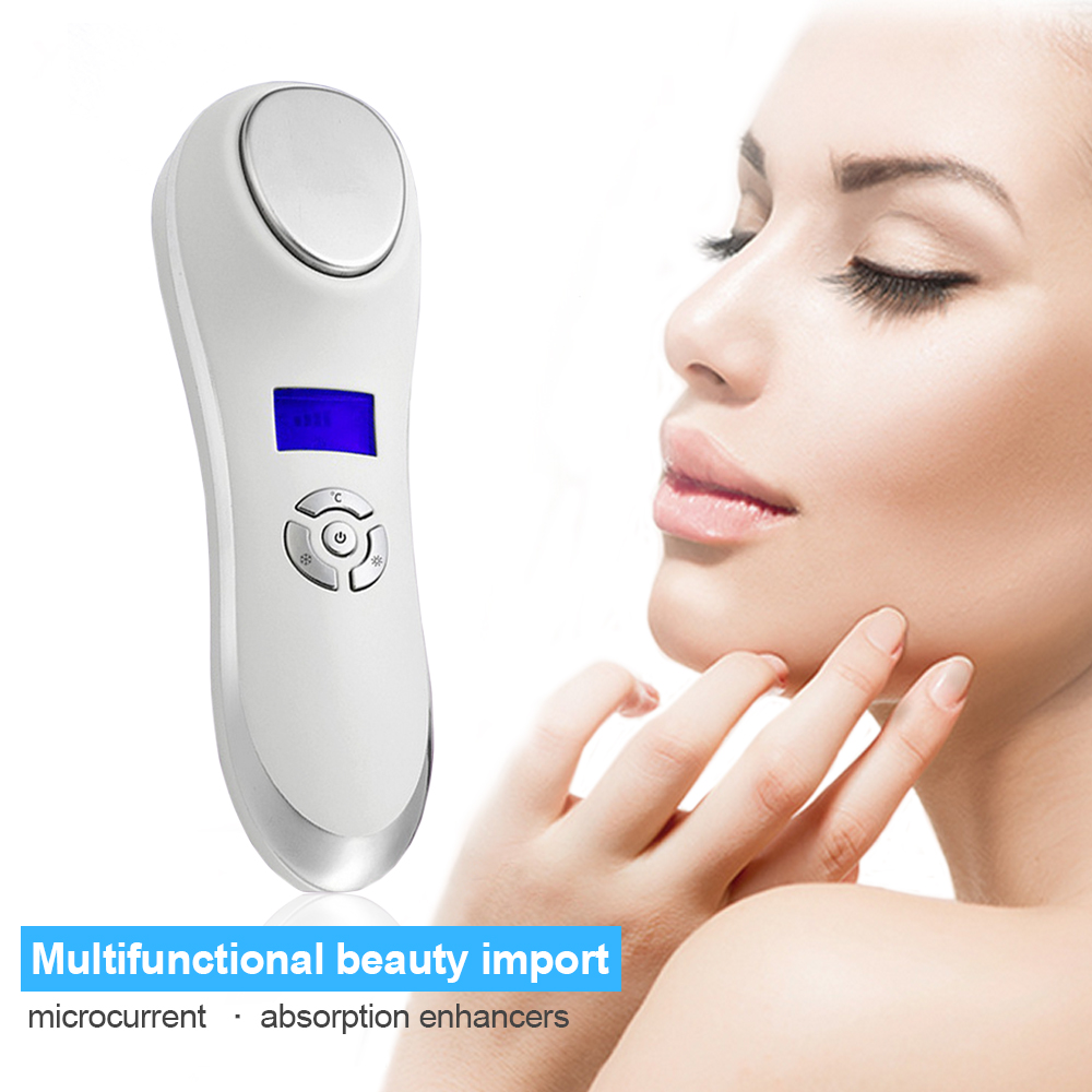 3MH Led Photon Ultrasonic Facial Skin Care Cleaner Anti Aging Wrinkle Remover Beauty Massager(China (Mainland))