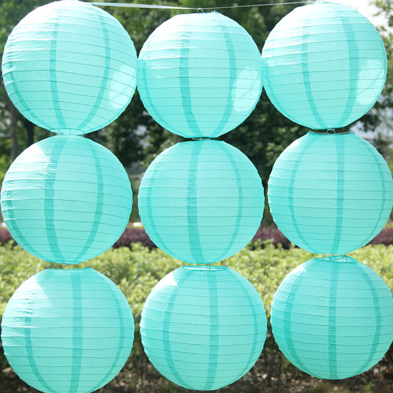 Free shipping 10pcs/lot Tiffany blue color Chinese paper lantern Spring Wedding home decoration Child party wedding suppliers(China (Mainland))