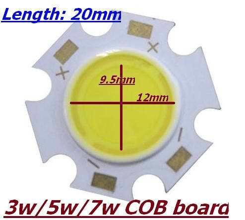 New Arrival 2014, High Power Lamp Beads 20mm COB LED Light Source Plum Blossom Board 3w 5w 7w(China (Mainland))