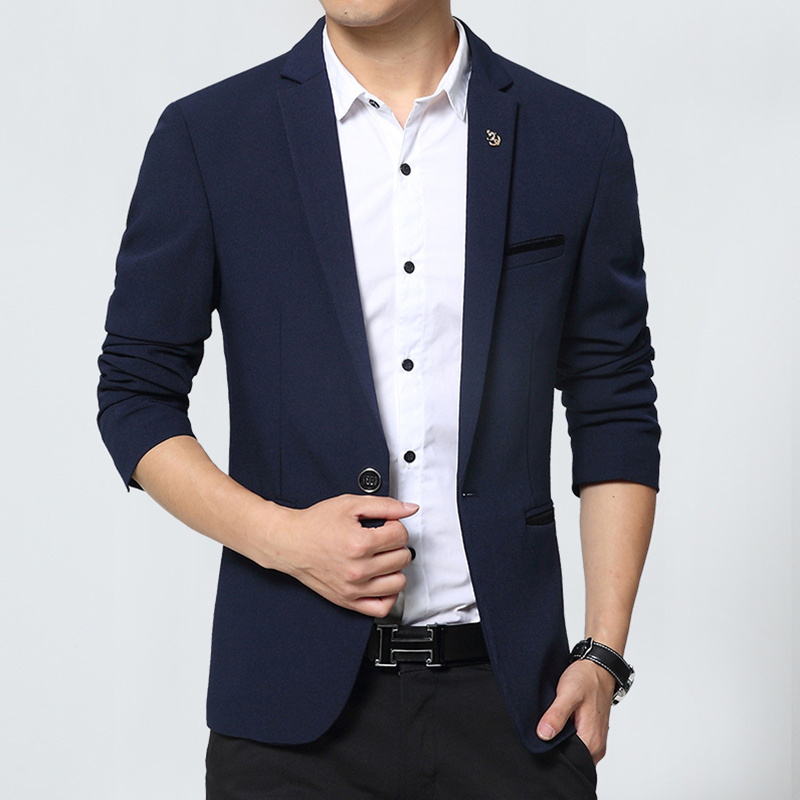 New Design Mens Brand Blazers Korean slim fit cotton Coats Suit Cardigan long sleeve Wedding dress Jacket Male Suite(China (Mainland))