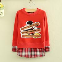 Boys Sweatshirts Autumn Winter Fashion Cartoon Micky Sweatshirt Fake Two Piece Like Hoodies Children Clothes Boys