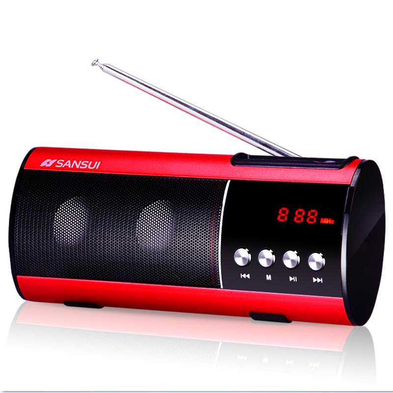 Sansui/ Landscape D10 Mini Stereo Mp3 Music Player Portable Radio Card Claus Small Speakers<br><br>Aliexpress
