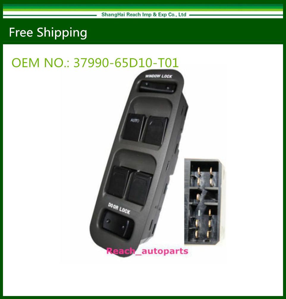 New Hight quality New Electric Power Window Master Switch For 1999 - 2002 Grand Vitara Suzuki OE# 37990-65D10-T01(China (Mainland))