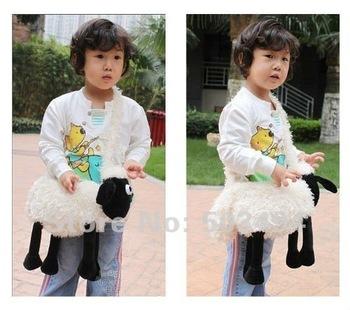 "Free shipping High Quality Soft Plush RARE Shaun The Sheep Plush Doll Shoulder Side Bag 15"""