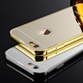 Coque 5C Luxury Aluminum PC Plastic Case For Apple iPhone 5c Metal Frame Acrylic Gold Fundas Capa