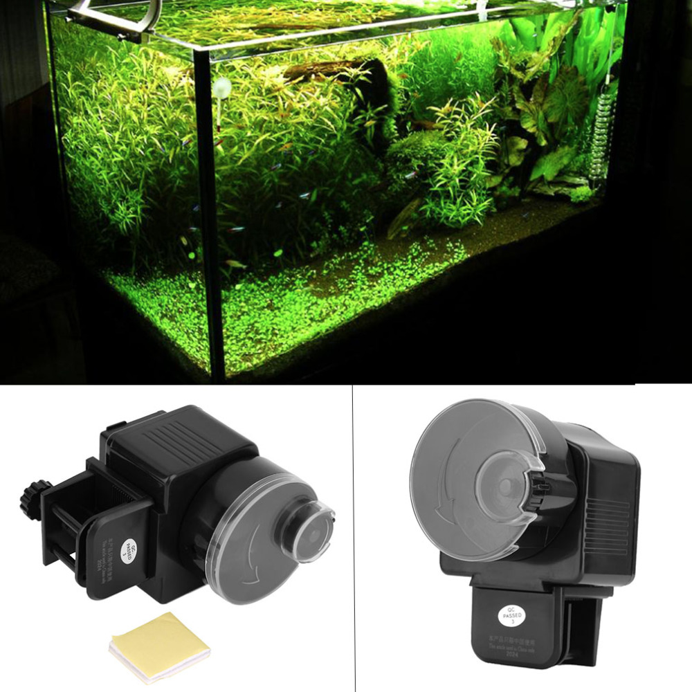 Digital LCD Automatic Aquarium Tank Automatic Fish Feeder Timer Food Feeding Electronic Fish Food Feeder Timer fish supplies(China (Mainland))