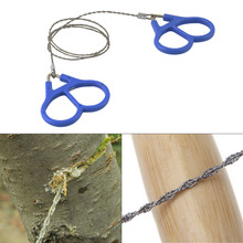 Emergency Survival Gear Outdoor Plastic Steel Wire Saw Ring Scroll Travel Camping Hiking Hunting Climbing Survival Tool (China (Mainland))