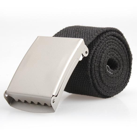 Fashion Practical Mens Black Webbing Web Military Style Canvas Tan Belt Metal Buckle Hot ES88(China (Mainland))