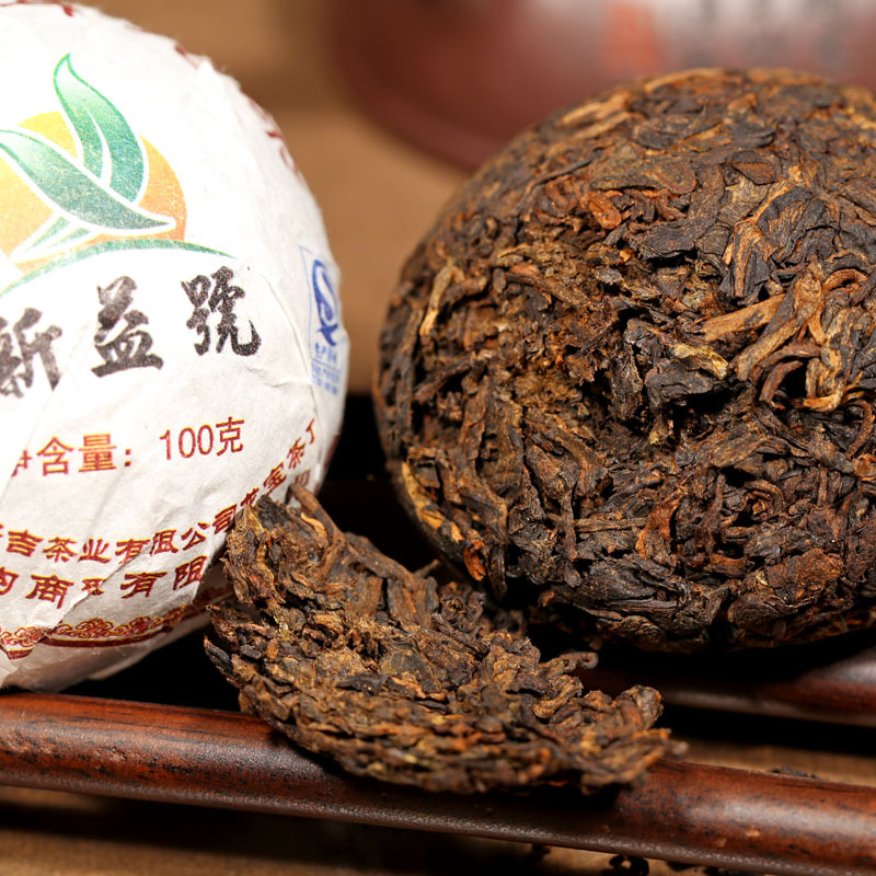 Freeshipping Pu er ripe tea 2013 new benefits cooked Pu er Tuo 100g pcs cooked tuo