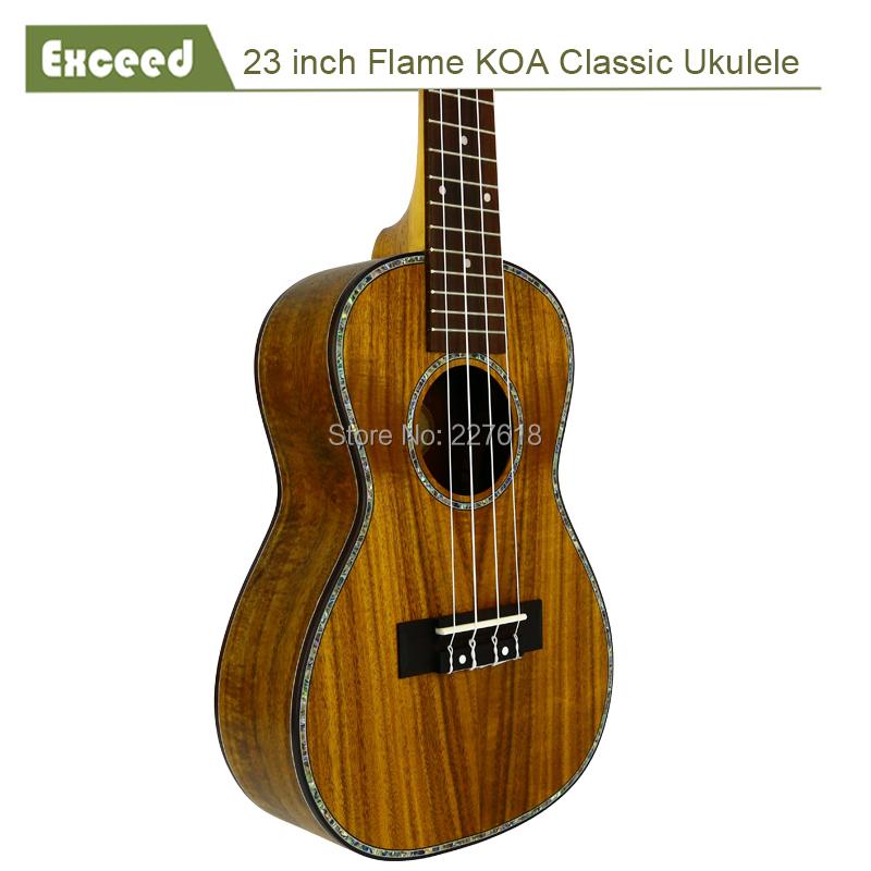 """Free shipping 23"""" Flame KOA(Acacia) classical 4string ukulele Guitarra ukelele uke Child Hawaii mini guitar acoustic Instrument(China (Mainland))"""