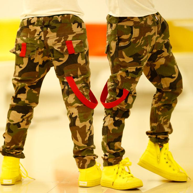 One Piece Camouflage Baby Boys Pants Personality Spring&Autumn Kids Pants Casual Harm Children's Trousers C05(China (Mainland))