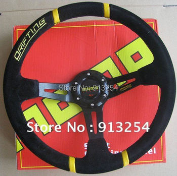 Hot!350mm  momo suede steering wheel