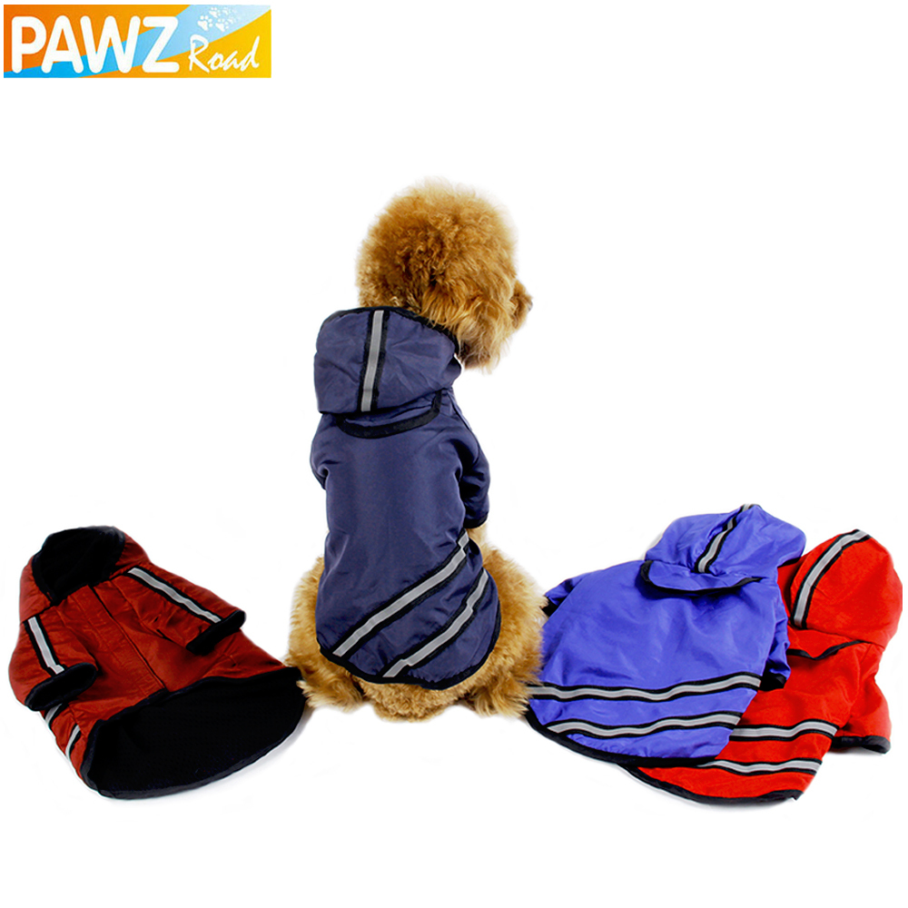 Pawz Road New Dog Raincoat Pet Clothing Apparel Pet Clothes Puppy Clothing Reflective High Quailty Small Dog Jacket 4 Sizes(China (Mainland))
