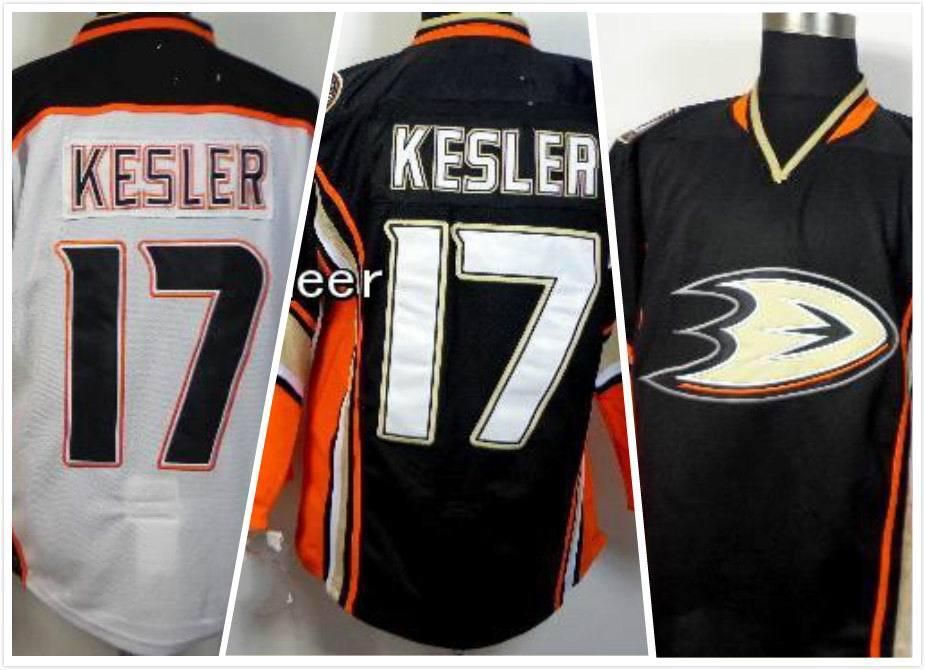 Ryan Kesler Jersey Cheap Anaheim Ducks #17 Ryan Kesler Jersey Home White Black Hockey Jerseys Ryan Kesler Stitched Jersey(China (Mainland))