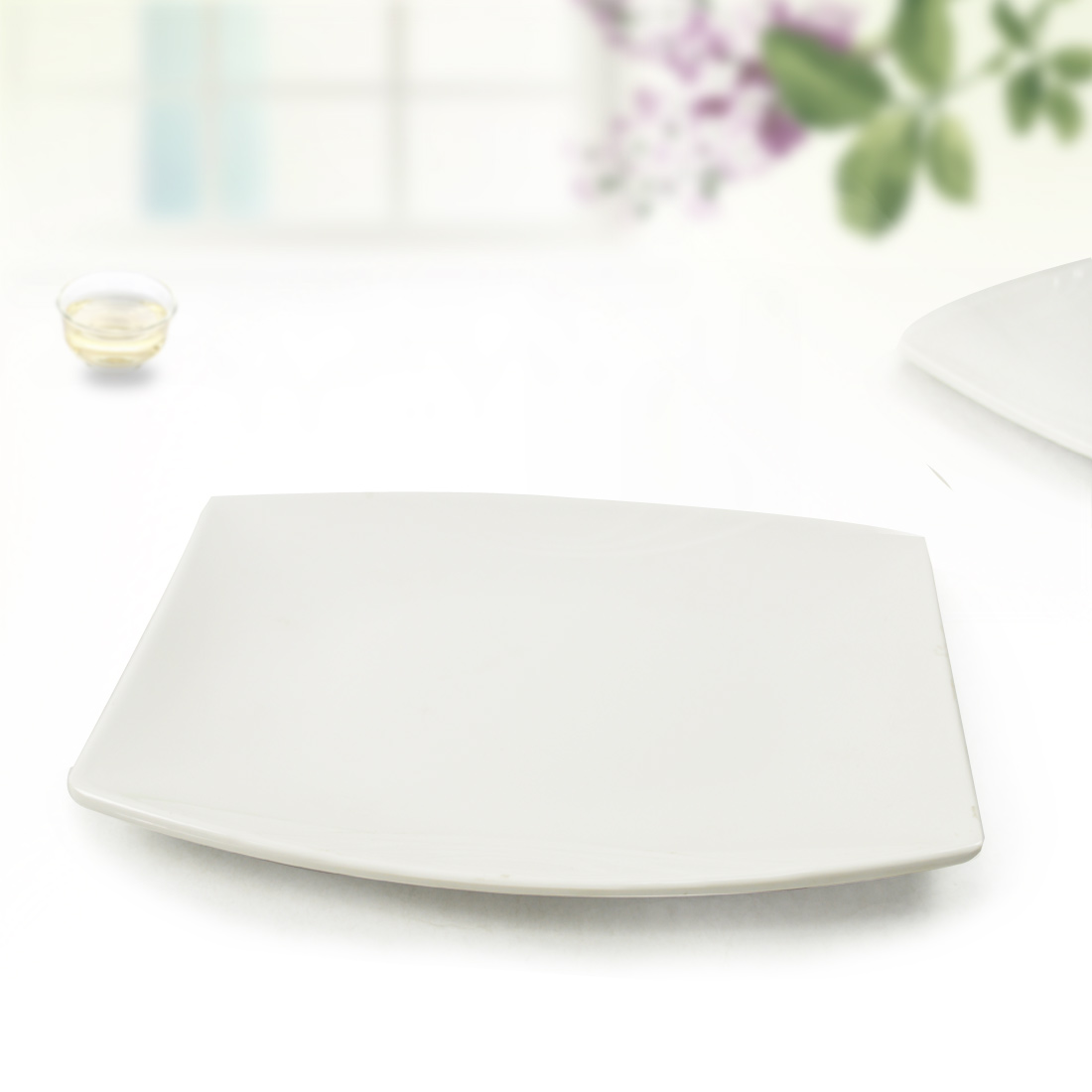 Porcelain plastic tableware white porcelain line cooking lettce the plate hot pot plate(China (Mainland))