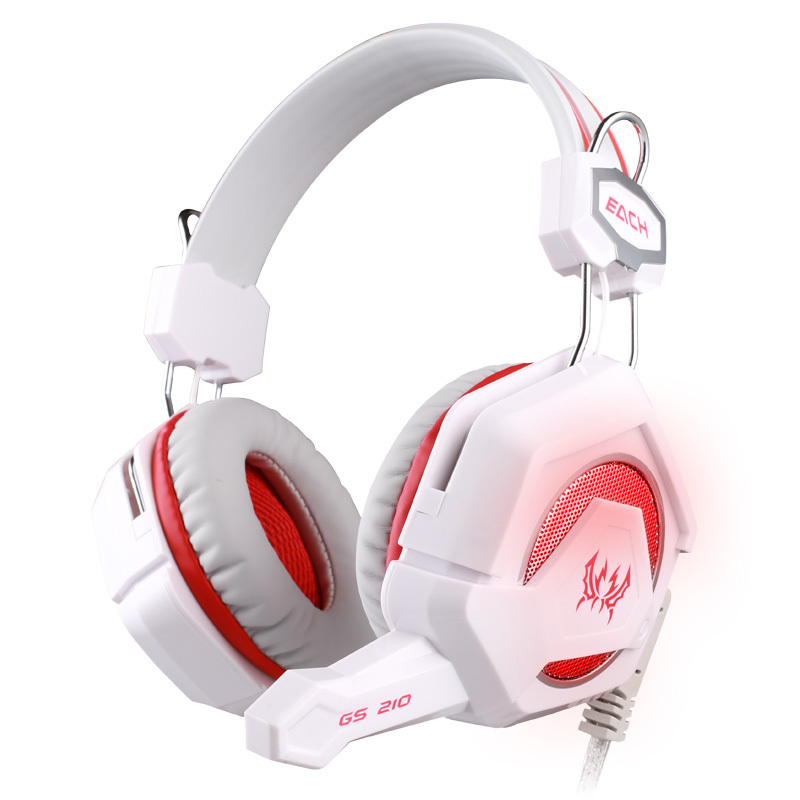 EACH GS210 Gaming Headphones Gaming Headset Gamer Headband Colorful LED Earphones With Mic Stereo Fone De