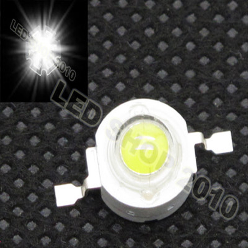 50pcs 1W White LED Without board Star HIGH POWER led chip 100LM light DIY free shipping(China (Mainland))