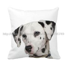 Black spotty dog printed animal cushion covers