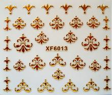 sticker on nails 3D gold nail stickers cut cat butterfly zip love design beauty nail art