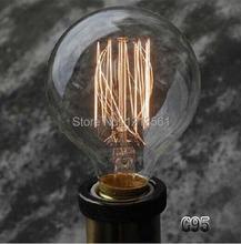 Retro American Lighting Bulb fashion Edison Bulb 110V/220V carbon filament incandescent light bulbs silk bulb e27 G95(China (Mainland))