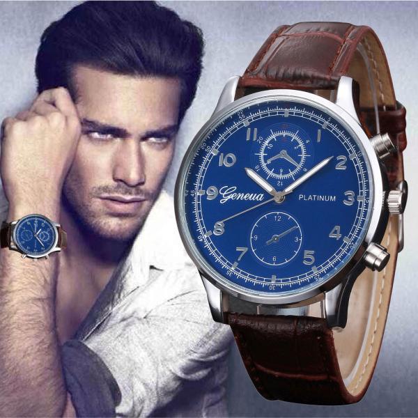 2017 New Watch Men Fashion Retro Design Leather Band Analog Alloy Quartz Wristwatch Male High Quality Free Shipping,Nov 30
