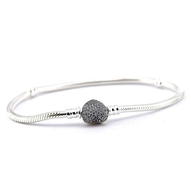 Вымощают в форме сердца хлопать подвески браслеты с четкими CZ европейский марка мода браслет для женщин DIY мода изготовления ювелирных изделий