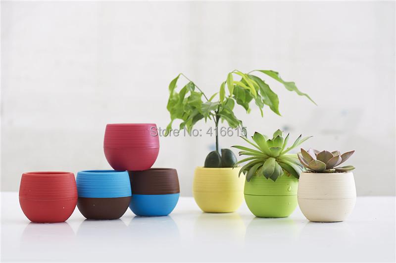 Giardino colorato mini forma sferica vasi di plastica vaso for Vasi bonsai plastica