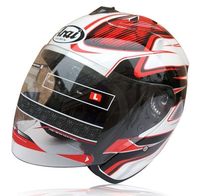 Free shipping motorcycle helmet ARAI helmet DVS Dual Visor System Motorcycle Half Face Helmet DOT red(China (Mainland))