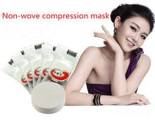 Viste @ genuine brand new 100 pz cura della pelle del viso maschera facciale in fibra di carta fai da te compressa mask secco di carta beauty(China (Mainland))