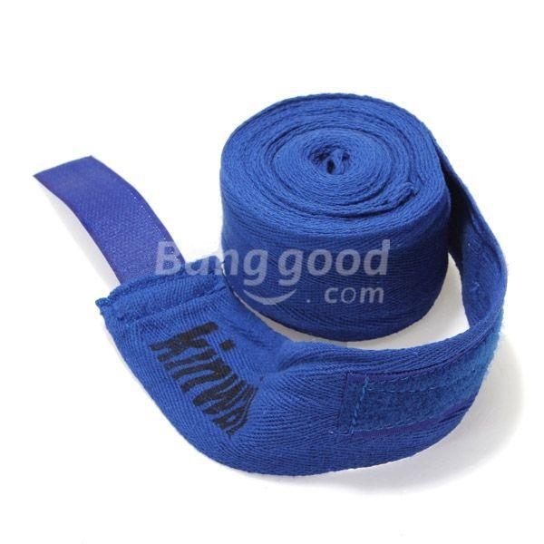 FreeWorld 2PCS 2.5M Cotton Boxing Handwraps Bandages Punching Hand Wraps(China (Mainland))