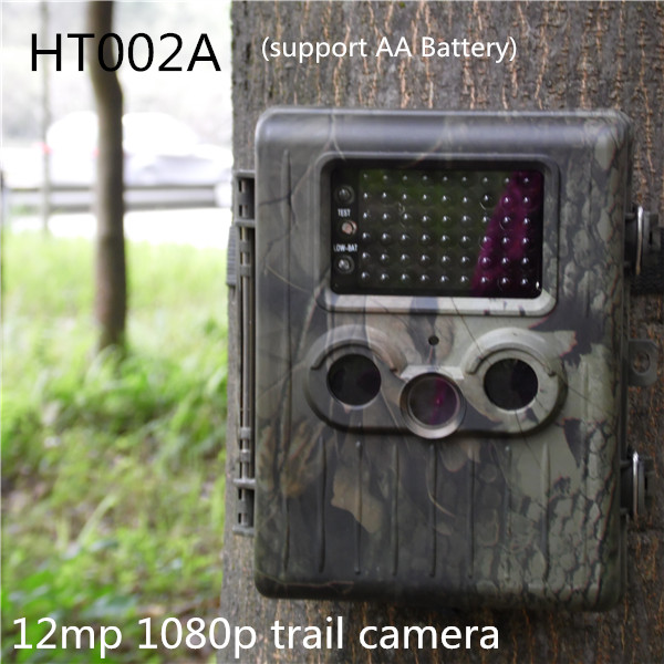 Здесь можно купить  new HT002A 1080P Camouflage Wild Surveillance Video Hunting Camera Infrared Trail Cameras Free Shippping new HT002A 1080P Camouflage Wild Surveillance Video Hunting Camera Infrared Trail Cameras Free Shippping Безопасность и защита