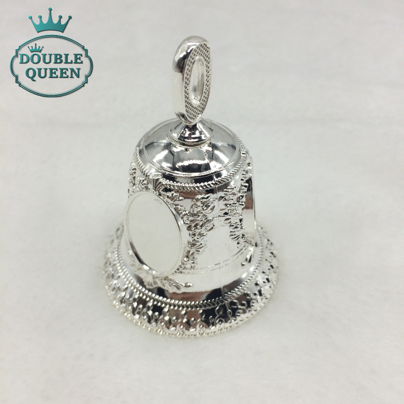 12pcs per lot Silver Souvenir Hand Bell Wedding Favor And Gift accept large order quantity(China (Mainland))