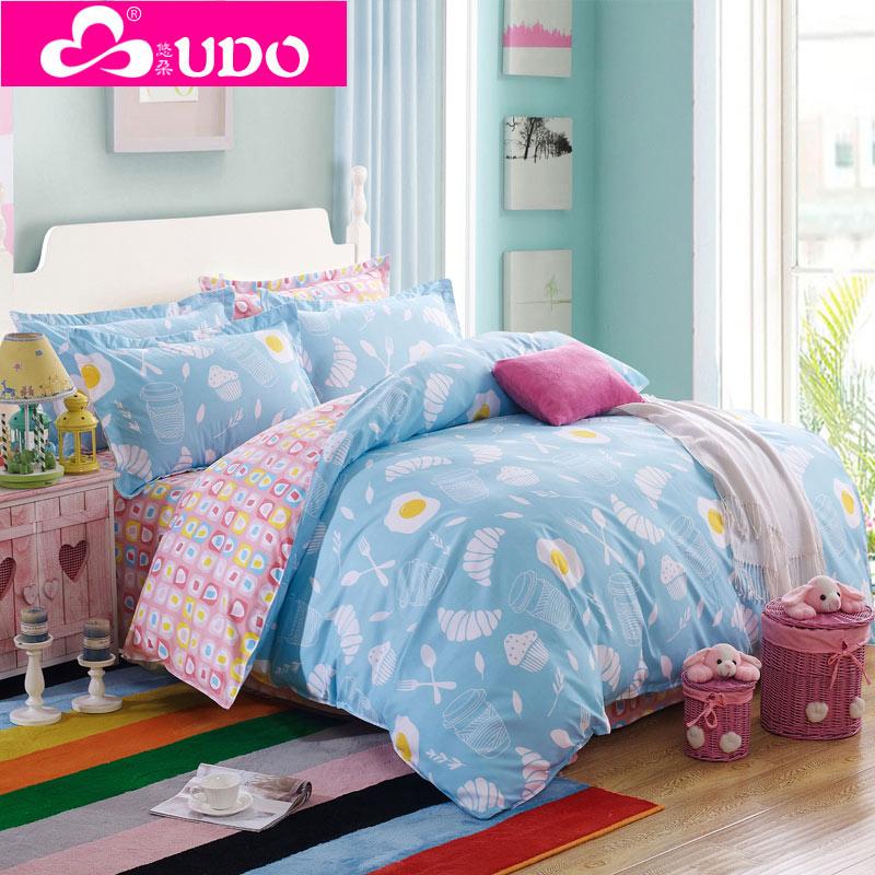 You Duo Home Textile Designer Bedding Romantic Comforter Set Bedlinen Bedspreads Reactive Printing Pillowcases WS001(China (Mainland))