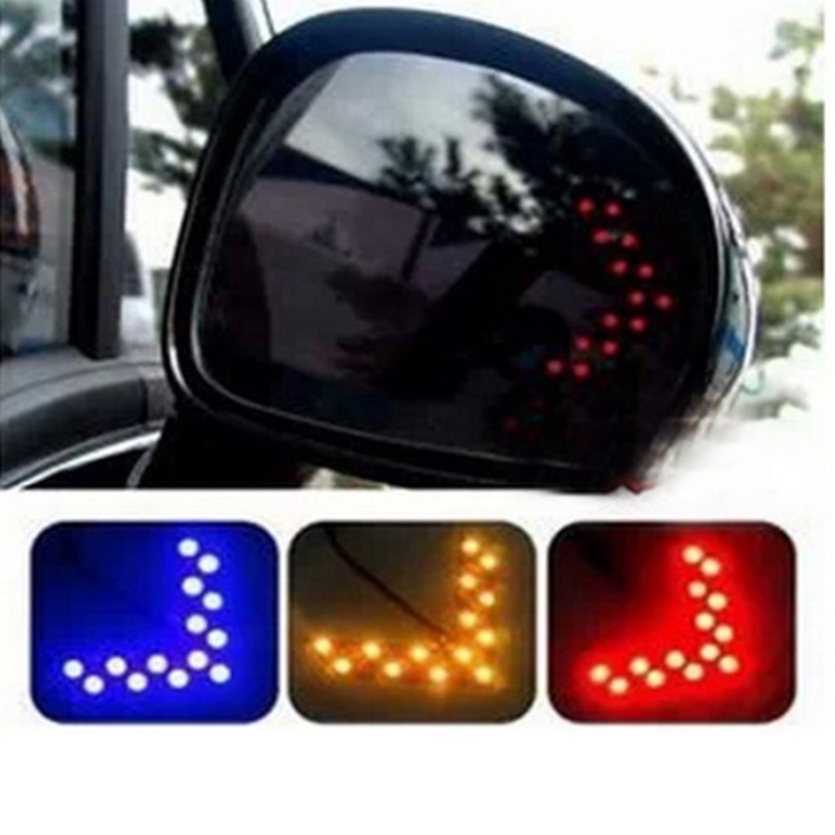 Hiding Style Car LED Side Mirror LED Guide Light Turn Signal Arrows Light 1210-14SMD CAR-0192(China (Mainland))