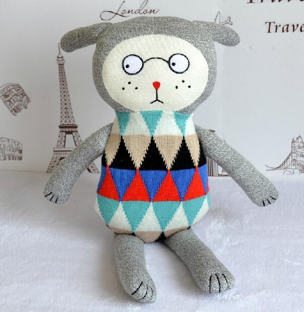 2015 New 70cm baby christmas gift denmark boy sunday hand knit soft kawaii stuffed animals doll plush toy for children(China (Mainland))