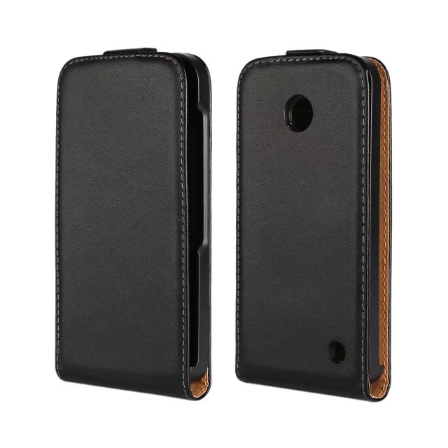 Luxury Genuine Leather Case Flip Cover For Nokia Lumia 630 635 N630 N635 wholesales PY(China (Mainland))