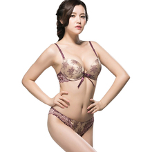 Sexy Junior Tops Large Cup Push Up Bra Set New Fashion Luxurious Vintage Women Bra Set Sexy Lace Bras And Panty Lingerie Set