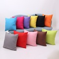 Fashion Cotton Cushion Cover Square Candy Color Home Hotel Office Decorative Pillow Case fundas de cojines