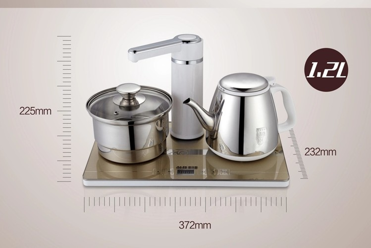 free shipping Fashion security tea set HX - 10 b16 automatic electric tea set up stainless steel electric kettle water feeder(China (Mainland))