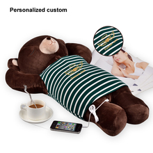 Music Pillow Speaker for Mp3 Light Musical Custom Cushion Decorate Bear Cute Pillow Creative Happy Birthday Gifts for Kids