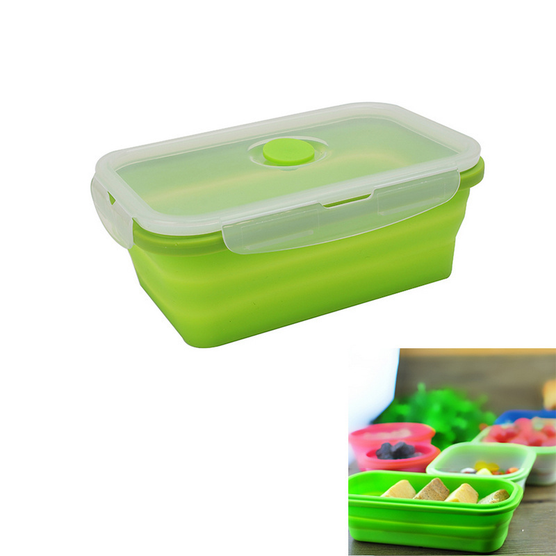 silicone collapsible portable lunch box bowl bento boxes folding food storage container lunchbox. Black Bedroom Furniture Sets. Home Design Ideas