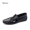 Willa s Dance Imitate Crocodile Leather Men Shoes 2016 Fashion Flats Loafers Shoes Men Famous Brand